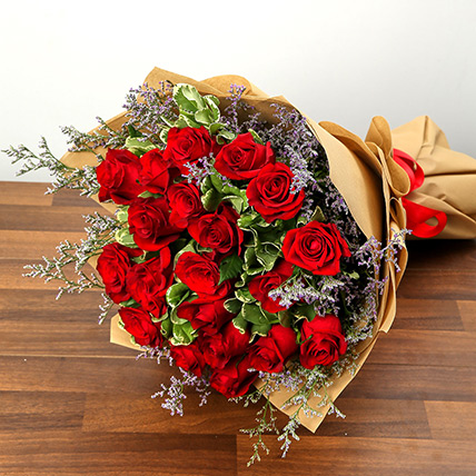 Bouquet Of 20 Red Roses EG: Egypt Gift Delivery