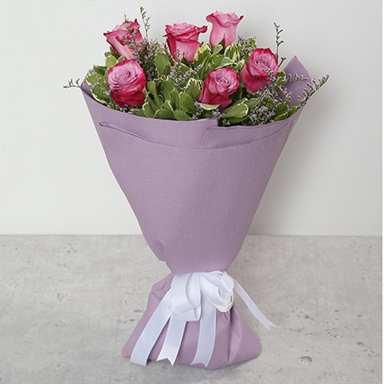 Bouquet Of Purple Roses EG: Egypt Gift Delivery