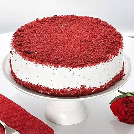 Red Velvet Fresh Cream cake: Cake Delivery to India