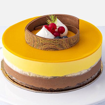 4 Portions Mango Cake: