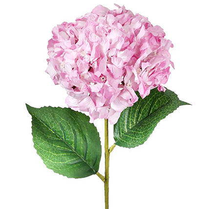 Artificial Real Touch Pink Hydrangea Bunches: Artificial Flowers