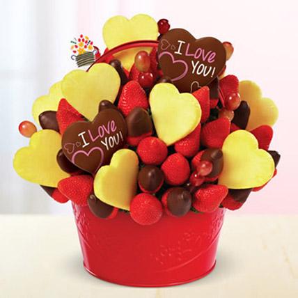 Be Mine Bouquet: Edible Arrangements