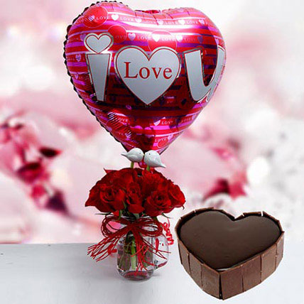 Color Pop: Heart Shaped Cake Delivery