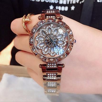 Czech Crystal Golden Watch:
