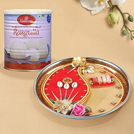 Designer Thali For Diwali With Rasgulla: Deepavali Sweets