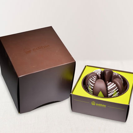 Gourmet Shareable Apples Dark with White Swizzle: Edible Arrangements