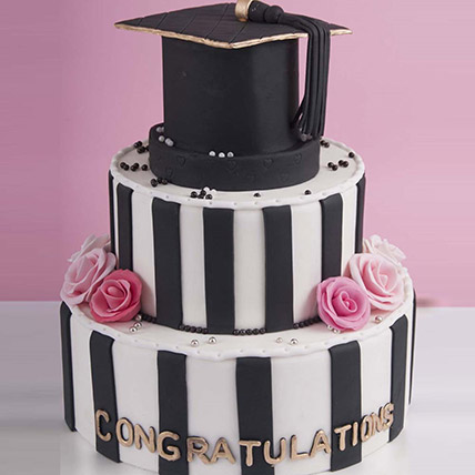 Graduation Hat Congratulations Cake 6 Kg: Graduation Theme Cakes