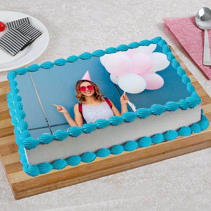 Happy Birthday Photo Cake: