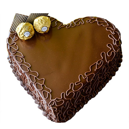 Heart Choco Cake: Heart Shaped Cake Delivery