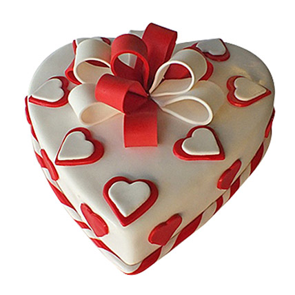 Red Ribbon Cake: Valentine Day Cakes to Al Ain