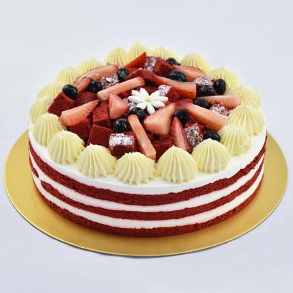 Red Velvety Cake: Anniversary Cakes for Parents
