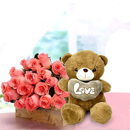Perfect Fantasy: Karwa Chauth Flowers & Teddy Bears