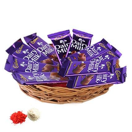 Basket of Dairy Milk: Bhai Dooj Chocolates