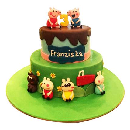 Peppa Pig Again Cake: Peppa Pig Birthday Cake