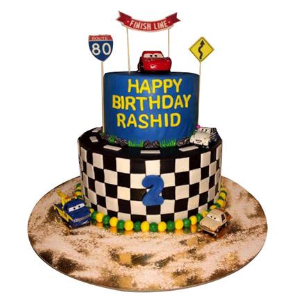 Car Race Cake: McQueen Cakes