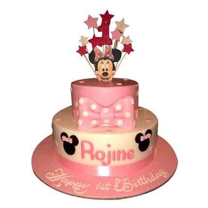 Minnie N Stars Cake: Minnie Birthday Cake