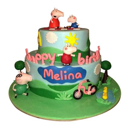 Piggy Family Cake: Peppa Pig Birthday Cake