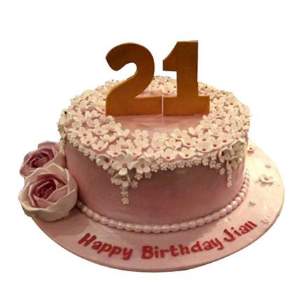 Charm of flowers Cake: Designer Cakes