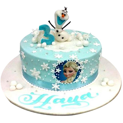 Frozen Olaf Cake: Frozen Birthday Cake