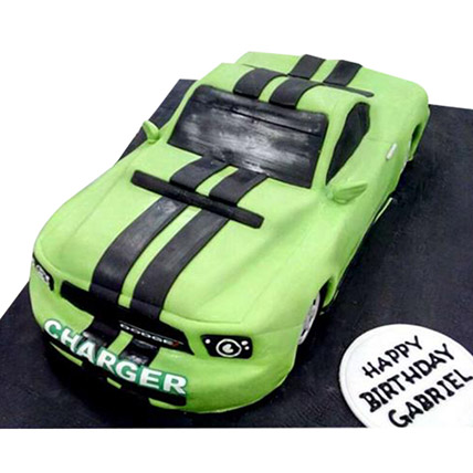 Green Dodge Cake: Car Cakes