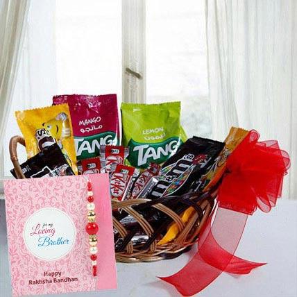 Rakhi with Gift Basket: Rakhi With Chocolates