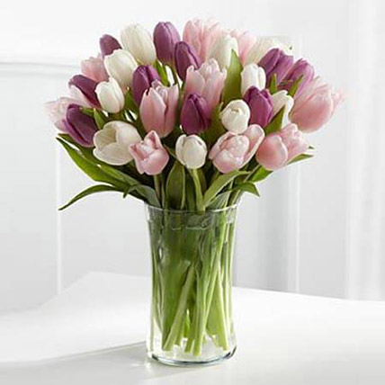 Painted Skies Tulip Bouquet: Congratulations Flower Bouquet