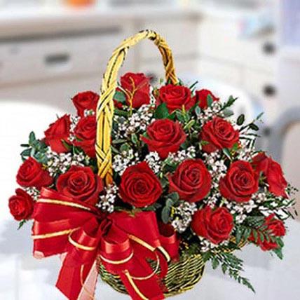 30 Red Roses Arrangement: Wedding Bouquets