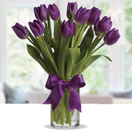 Purple Tulip Arrangement: