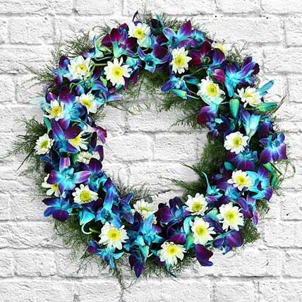 Orchids Wreath: Flower Wreath
