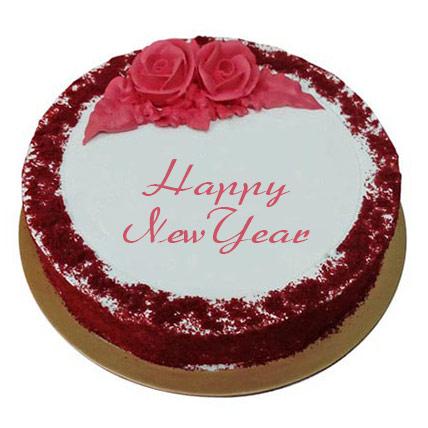 Fresh Red Velvet Cake 1 Kg: Happy New Year Cake 2020