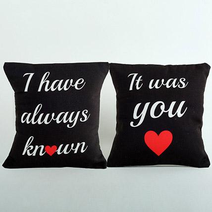 Black Couple Cushions: Anniversary Cushions