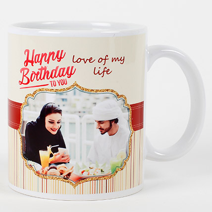 Romantic Birthday Personalized Mug: Personalized Gifts