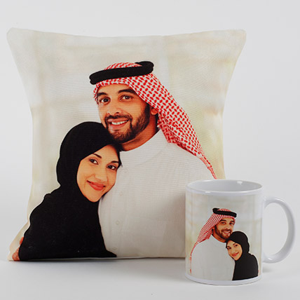 Lovable Personalized Cushion N Mug: Personalized Gifts