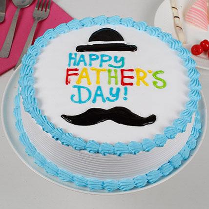 Hat And Moustache Cream Cake: Designer Cakes