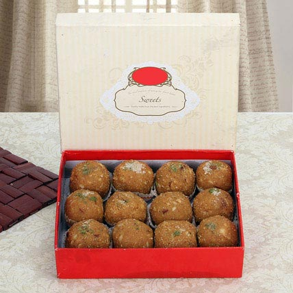 Box of Dry Fruit Besan Laddoo: Indian Sweets Shop in Dubai