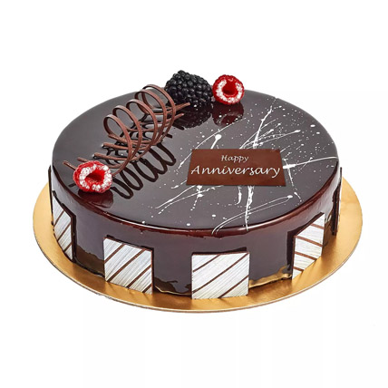 Chocolate Truffle Anniversary Cake: Marriage Anniversary Gifts for Wife