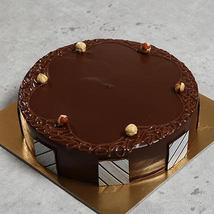 500gm Eggless Hazelnut Choco Cake: Cakes in Sharjah
