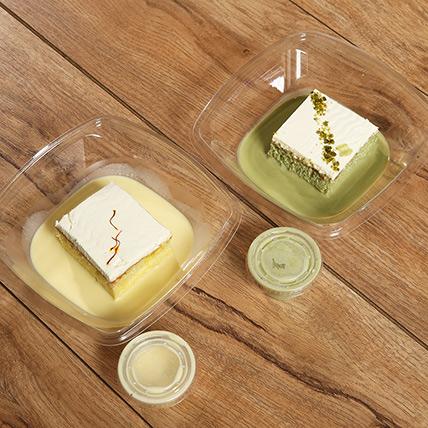 Pistachio and Saffron Flavor Milk Cake Combo: