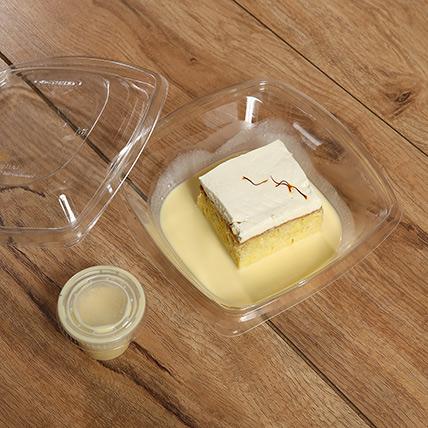Toothsome Saffron Flavor Milk Cake: Tres Leches Cake