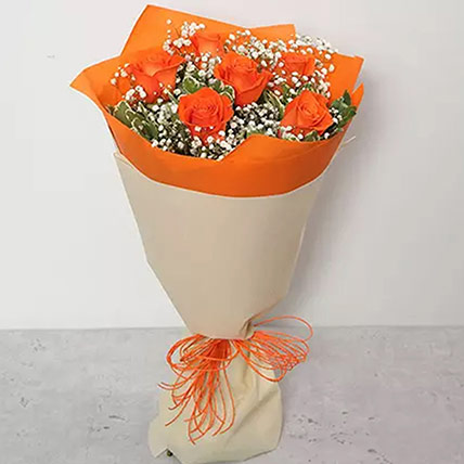 Bouquet Of Orange Roses: Anniversary Flowers for Parents