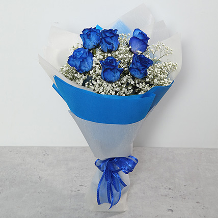 Bouquet Of Blue Roses: Father's Day Flowers