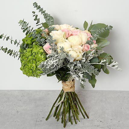 Roses and Peonies Bouquet: