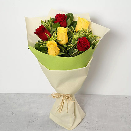 Red and Yellow Roses Bouquet: Bouquet of Roses