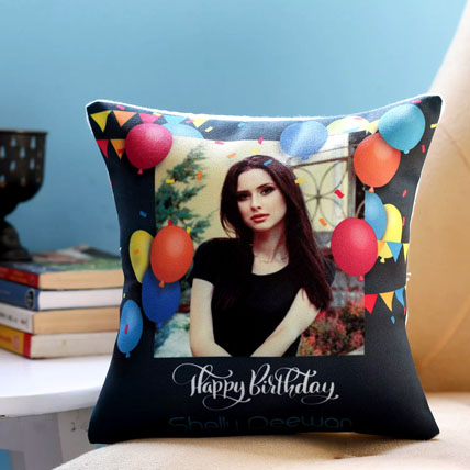 Personalised Birthday Balloons Cushion: Personalised Gifts Dubai