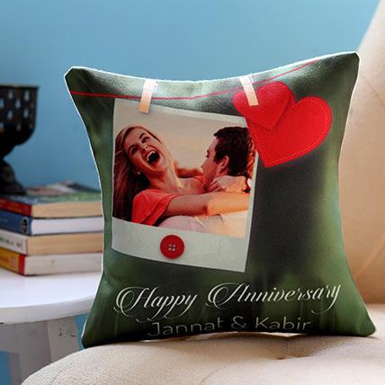 Personalised Anniversary Heart Cushion: Anniversary Cushions