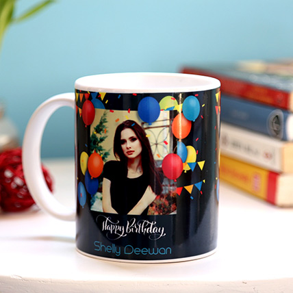 Personalised Birthday Balloons Mug: Personalized Gifts