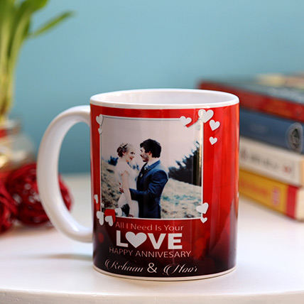 Personalised Anniversary Love Mug: Personalized Mugs Dubai