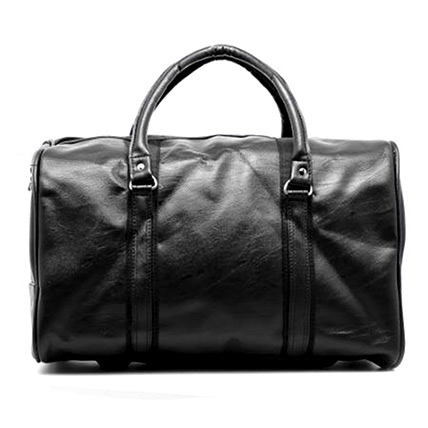Faux Leather Duffle Bag: