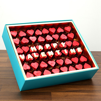 Valentine Special Heart Shaped Belgium Chocolates: Valentines Gifts For Men