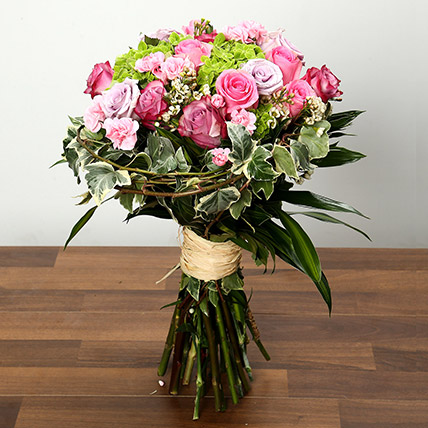 Bouquet of Roses Hydrangeas and Carnations: Mother's Day Flower Bouquet